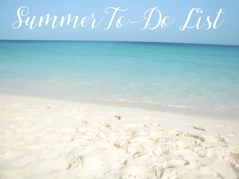 summer to-do list